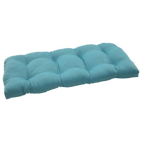 Pillow Perfect Outdoor/ Indoor Forsyth Turquoise Wicker Love