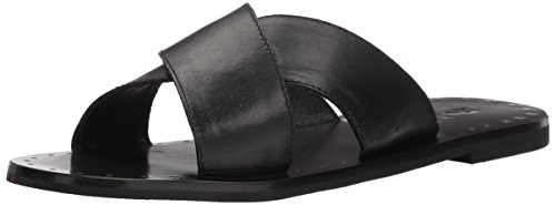 Italian Black Cross (FRYE Women's Ally Criss Cross Slide Sandal, Black, 8.5 M US)