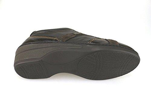 WALKSAN zapatos elegantes mujer cuero gamuza cuero de ante marrón