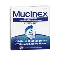Mucinex 12 Hour Chest Congestion Extended Release Bi-Layer Tablets, 20 CT (Pack of 6) by Mucinex