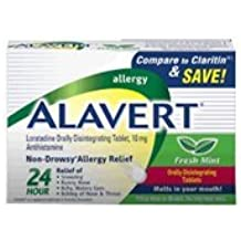Alavert 24 Hour Orally Disintegrating Tablets Fresh Mint 60 Tablets (Pack of 3) by Alavert