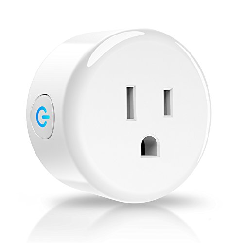 Anbes Wi-Fi Smart Plug Mini Outlet, Alexa Plug Smart Socket Works with Amazon Alexa Echo, Google Home and IFTTT, ETL and FCC listed, Timing Function, No Hub Required