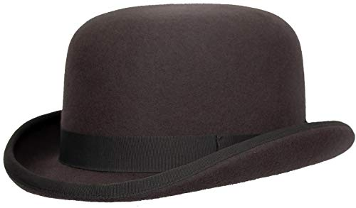 Levine Fleming Firm Felt Derby Bowler Hat 100% Wool (3+ Colors) (Medium (fits 7 to 7 1/8), -