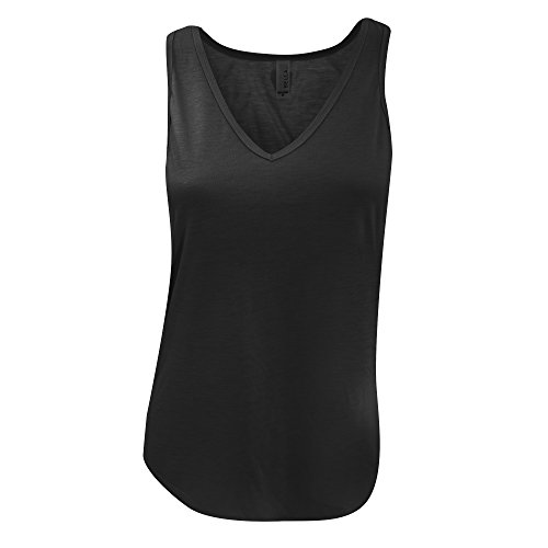Bella Canvas- Camiseta de tirantes con cuello en forma de V para mujer Gris oscuro