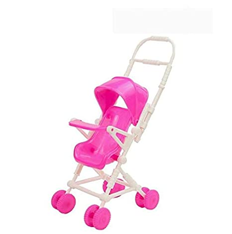 MTSZZF Cochecito de bebé Que Camina a pie para Barbie Juguete de plástico Precioso Muebles de jardín de muñecas: Amazon.es: Hogar