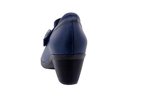 PieSanto Komfort Damenlederschuh 1480 riemchenschuh abendschuh bequem breit Marino