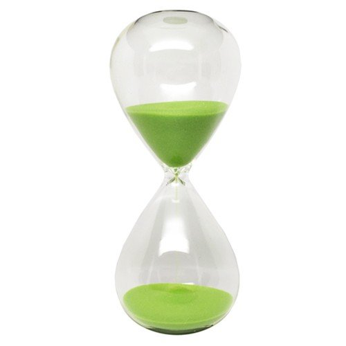 Hourglass Sand Timer - 15 Minute, Lime Green