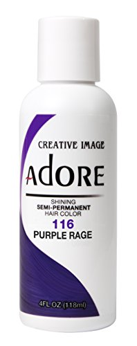 Adore -Creative Image Semi-Permanent Hair Color #116 Purple Rage, 4 oz