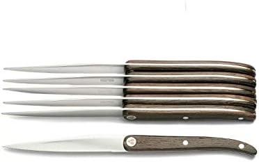 LAGUIOLE Estuche 6 cuchillos mango madera: Amazon.es: Hogar