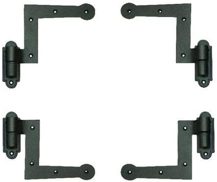 Offset John Wright 88-512 Set of Cast Iron New York Style Shutter Hinges with 2 in