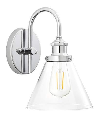Tenesa Hallway Wall Sconce   Chrome Bathroom Vanity Light with LED Bulb LL-WL631-2PC