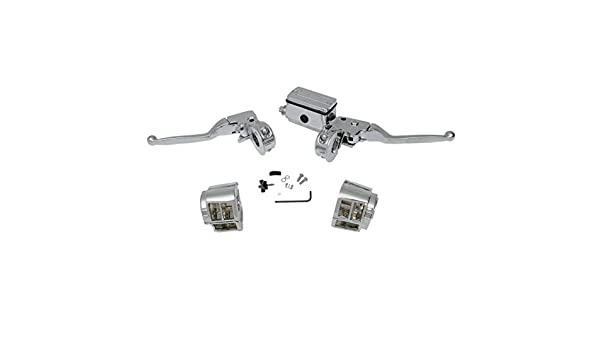 Chrome Handlebar Control Set for 1985-1995 Harley-Davidson Dyna Sportster and Touring models with Dual Front Disc Brakes HC-HBC127 Softail