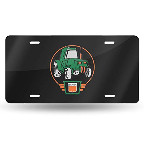 Bayarsea License Plate Little Oliver Tractor Driver 3D Funny Auto Car Tag Metal Cover ()