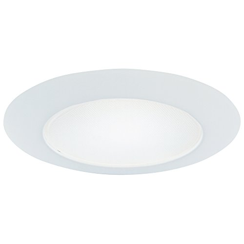 Halo Recessed 70PS 6-Inch Trim Wet Location and Air-Tite Listed Trim with Frosted Albalite Lens, White Lens Shower Recessed Light Trim
