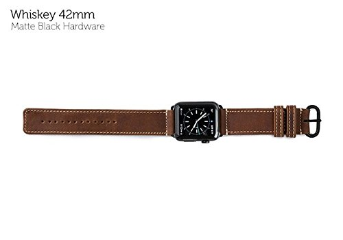 Band - Whiskey 42mm with Matte Black Hardware (Heritage Pad)