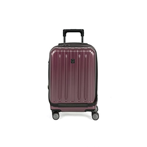 Delsey Helium Titanium 19'' International Carry-On Expandable Spinner Luggage, Purple by DELSEY Paris