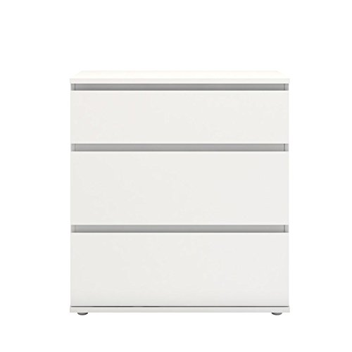 TVILUM Bright 3 Drawer Wide Chest in White