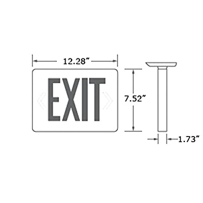 eTopLighting LED Exit Sign Emergency Light Lighting Emergency LED Light / Battery Back-up