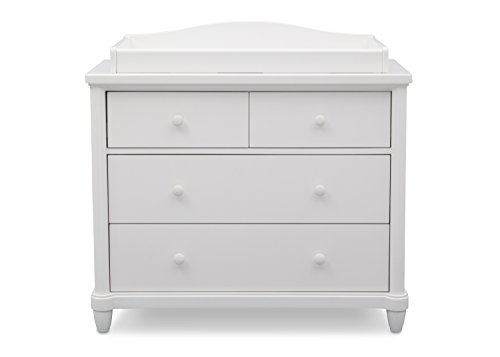Simmons Kids Belmont 4 Drawer Dresser with Changing Top, Bianca by Simmons Kids