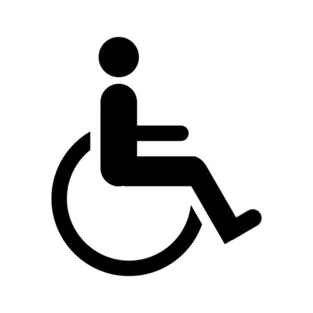 Handicap Parking Stencils - 36 inch (2 part stencil) - 60...