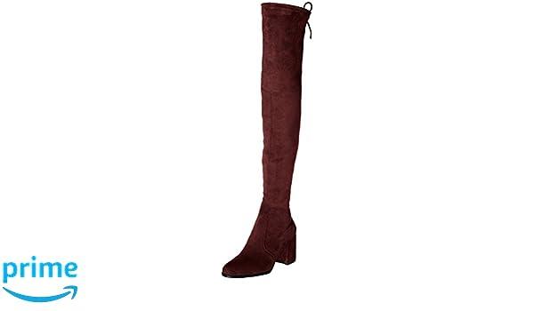 b5912994f64f Kaitlyn Pan Block Heel Microsuede Slim fit Over The Knee Boots (7 US 37  EU 37.5 CN