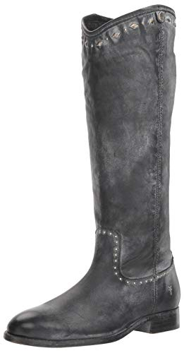FRYE Women's Melissa Button Multi Stud Ankle Boot, Black, 7 M - Stud Knee High