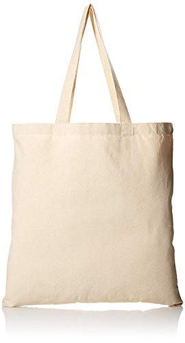 Cotton Canvas Tote Bags Reusable Totes for Shopping, Groceries, Arts & Crafts, DIY, Vinyl, Decorate, Teacher, Books, Gifts (Natural, 12)
