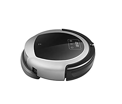 TechComm B6009 Robotic Vacuum Cleaner with Wet and Dry Cleaning Modes, Intelligent Scrape Adjustment, HEPA Filter and UV Sterilization