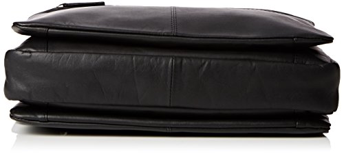 Visconti - Umhängetasche/Aktentasche fürs Büro - weiches, Schwarzes Leder - 659 - GRÖßE: B: 31 H: 25 T: 5 cm