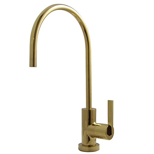 (Kingston Brass KS8192CTL 1/4 Turn Water Filter Faucet, Polished Brass)