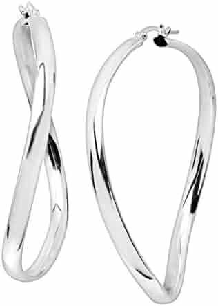 20594dd0a Silpada 'Porto Ferro' Twisted Criss-Cross Hoop Earrings in Sterling Silver,  50