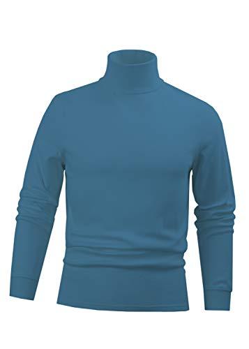 - BLUE Men's Combed Cotton Euro Design Ski Casual Turtleneck (XX-Large)