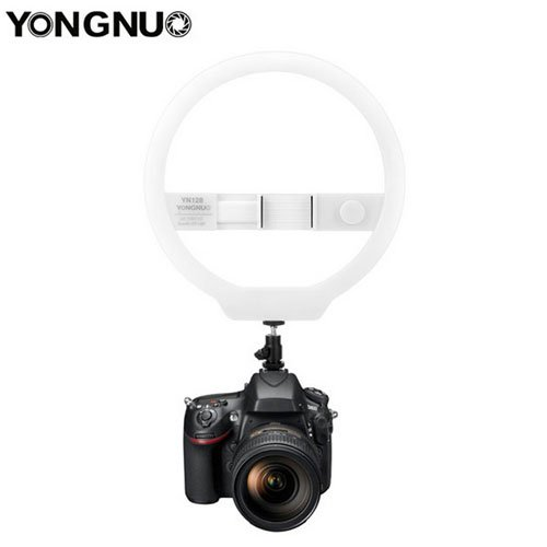 YONGNUO YN128 Camera Photo/Studio/Phone/Video 128 LED Ring Light 3200K-5500K Photography Dimmable Ring Lamp For Iphone 7/7 plus by yong nuo