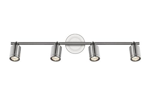 Radionic Hi Tech K_TKL_8829 29.5 Inch Cassie 4 Brushed Nickel Track Light, 29.5''