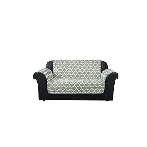SureFit Furniture Flair - Loveseat Slipcover - Ikat Tile