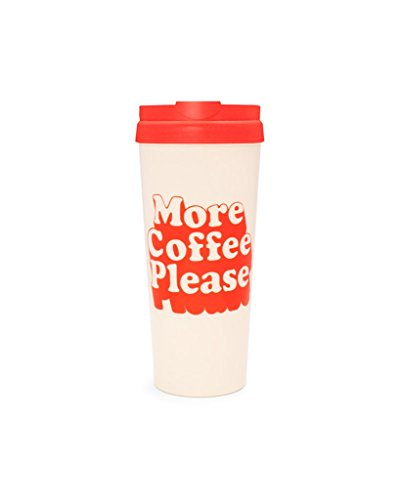 Please Coffee Mug - Ban.do US 73342 hot Stuff Thermal Mug, More Coffee Please, Red