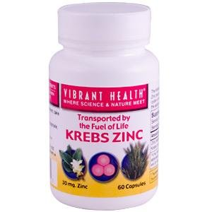 Vibrant Health Krebs Cycle Zinc, 30 Mg, Capsules, 60-Count