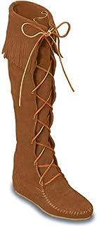 Minnetonka Women's Front Lace Knee-Hi Boot,Dusty Brown,8 M US (B001F3H28Y) | Amazon price tracker / tracking, Amazon price history charts, Amazon price watches, Amazon price drop alerts