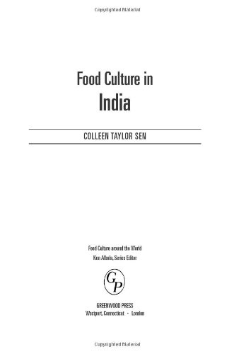 Food Culture in India (Food Culture around the World)