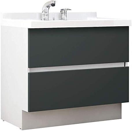 イナックス(INAX) 洗面化粧台 J1プラスシリーズ 幅90cm フルスライドタイプ シングルレバーシャワー水栓 J1FHT905SYNYD2H 寒冷地用 ウェンゲチャコール(YD2H)
