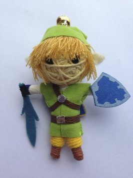 Link Legend of Zelda: Skyward Sword Voodoo String Doll Keychain