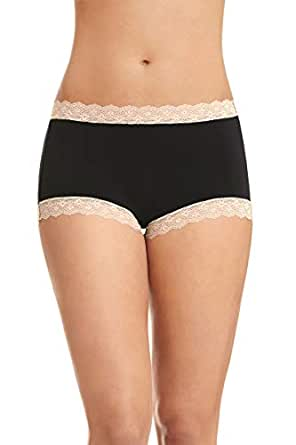 Jockey Women's Underwear Parisienne Vintage Modal Full Brief, Black, 10