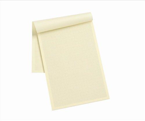 Silvine Designer Graph Pad 85Gsm 1Mm 5Mm 10Mm Grid 50 Sheets A4 Cream Wove Ref A4Gpivy by Silvine