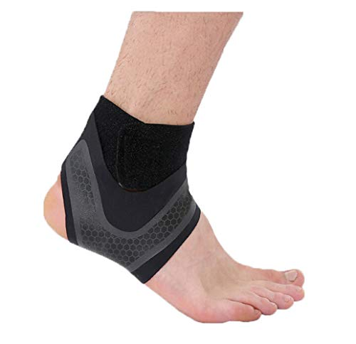 Teens Adults Adjustable Compression Ankle Support Outdoor Sports Breathable Running Cycling Skating Dance Ankle Brace Protector Guard,1pcs