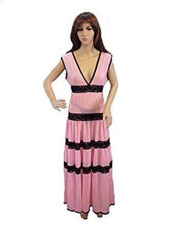 V-neck Design With Two Piece And Comfortable Materials For Elegant Ladies Nightwear