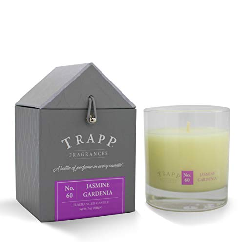 (Trapp Signature Home Collection No. 60 Jasmine Gardenia Poured Scented Candle, 7-Ounce)