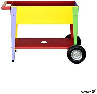 Mesa de cultivo para niños con ruedas 75x35x65cm: Amazon.es: Jardín