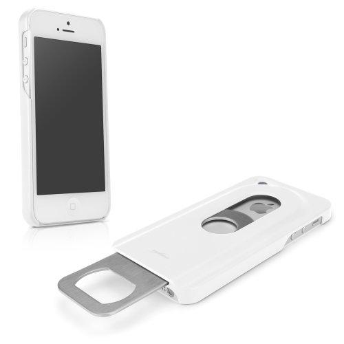 BoxWave drinkmate Apple iPhone 5Fall–Flaschenöffner Handy Case, herausschiebbare Retractable Design, langlebigem Polykarbonat Hard Shell (Winter Weiß)