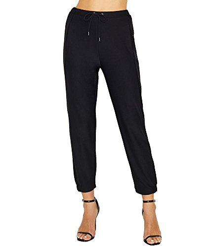 Lyss Women's Waverly Stretch Crepe Jogger, Black, M
