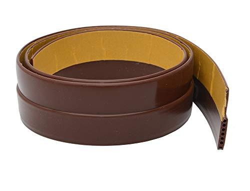 Store2508® Flexible PVC Door Draft Guard ~ Door Sealer ~ Door Sealing Strip For Doors and Windows. With Fiberglass Adhesive Tape. Length – 105 Cm. Width – 45mm. (Brown)